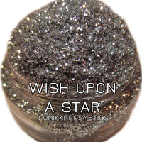 Wish Upon A Star GLITTER Sample Size Mini Jar Silver Glitter Magical Star Galaxy Fairy Tale Magic Glitter Collection Lumikki Cosmetics