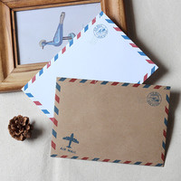 Set of vintage Envelopes // A6  Airmail Envelopes // Invitation Envelopes / Retro Envelopes/