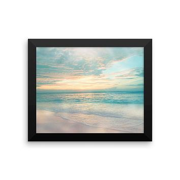 Framed Ocean Photo Yoga Meditation Wall Art