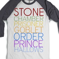 Harry Potter Timeline-Unisex White/Asphalt T-Shirt