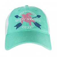 Simply Southern Preppy Ball Cap Hat HAT-TURTLEMESH-SEAFOAM