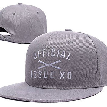 XINMEN The Weeknd XO Logo Adjustable Snapback Embroidery Hats Caps - Grey