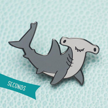 Hammerhead Shark Hard Enamel Lapel Pin (SECONDS SALE)
