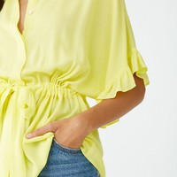 Ruffled Dolman Top