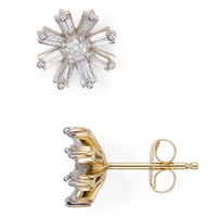 Adina Reyter Diamond Baguette Flower Stud Earrings | Bloomingdales's