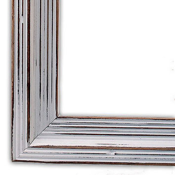 Distressed Frame, Cimarron White, Rustic Hand Painted, Shabby Chic, Wedding Frame, Choose Your Size, 11x14, 8x10, 5x7, 4x6, And More