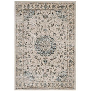 Atara Distressed Vintage Persian Medallion 8x10 Area Rug - R-1102A-810