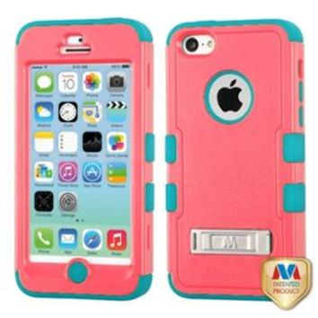Walmart: INSTEN Natural Baby Red/Tropical Teal TUFF Hybrid Phone Case w/Stand For Apple iPhone 5C