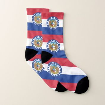 All Over Print Socks with Flag of Missouri