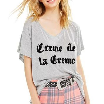 Creme De La Creme Romeo V-Neck Tee | Heather