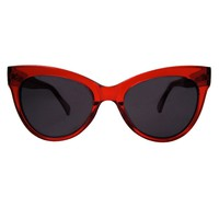 Square Cat Eye Sunglasses / Red