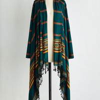 Boho Long Long Sleeve It's Now or Nevada Cardigan in Dusk