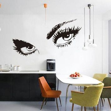 MDIGYN5 Super Deal  Stickers Audrey Hepburn's Eyes Silhouette Wall Sticker Decals Home Decor wall stickers  HYM02