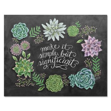 Simple Succulents - Print & Canvas