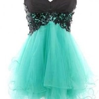 Sweet Lace Ball Gown Sweetheart Mini Prom Dress