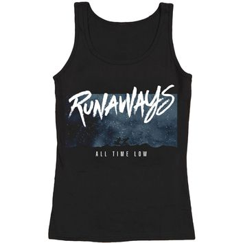 All Time Low Women's  Runaways Tank Womens Tank Black