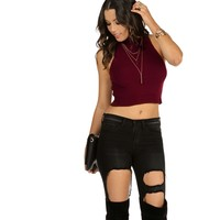 Burgundy Sierra Crop Top