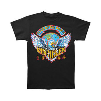 Van Halen Men's  Tour Of World 1984 T-shirt Black Rockabilia