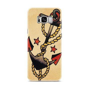 Anchor Tattoo Style Sailor Pirate Samsung Galaxy S8 | Galaxy S8 Plus Case