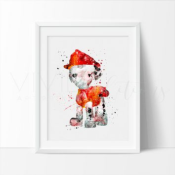 Marshall, Paw Patrol Watercolor Art Print