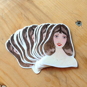 Glamorous 70s Shelley Duvall Sticker