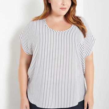 Lori Striped Top Plus Size