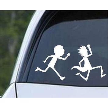 Rick and Morty - Running Die Cut Vinyl Decal Sticker