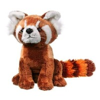 Wildlife Artists Panda Plush Toy, Red