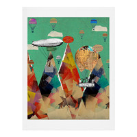 Brian Buckley Adventure Days Over The Alps Art Print