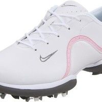 Nike Golf Women`s Ace Golf Shoe,White/Light Charcoal/Prism Pink,6 M US