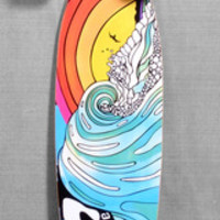 "San Clemente 38"" Stained Glass III Longboard Complete"