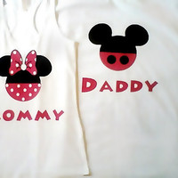Mickey/Minnie Mommy/Daddy T-Shirts Pink (color)