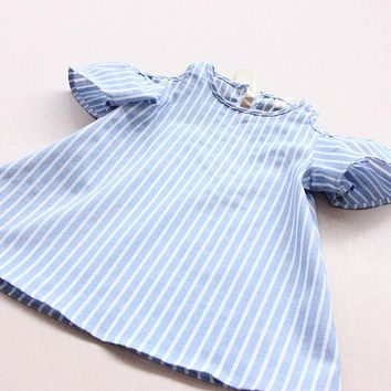 Infants Toddler Kids Baby Girls Summer Casual Dress Infant Outfits Princess Party Tutu Lovely Dresses