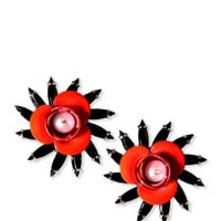 MSGM Coral Flower Earrings - Stud Earrings - ShopBAZAAR