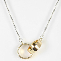Urban Outfitters - Delicate Interlocked Geo Necklace
