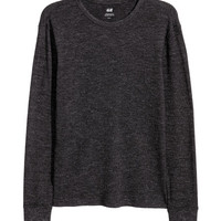 Waffle-texture Shirt - from H&M