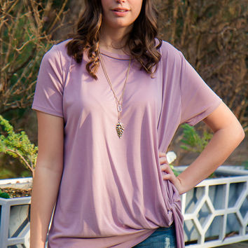 All Tied Up Top - Mauve - Final Sale