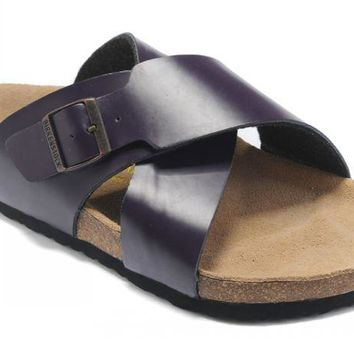 Birkenstock Guam Sandals Leather Purple - Ready Stock