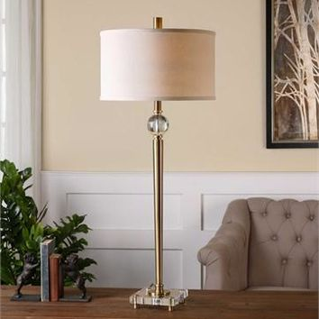 Uttermost Mesita Brass Buffet Lamp