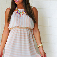 Right Where I Want You Dress: Apricot | Hope's