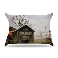 "Angie Turner ""Mail Pouch Barn"" Wooden House Pillow Case - Outlet Item"