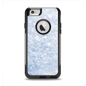 The Sparkly Snow Texture Apple iPhone 6 Otterbox Commuter Case Skin Set