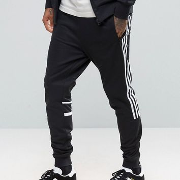 adidas Originals CLR84 Slim Joggers In Black BK5929 at asos.com