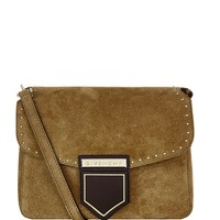 Givenchy Small Nobile Suede Cross Body Bag Khaki | Harrods.com