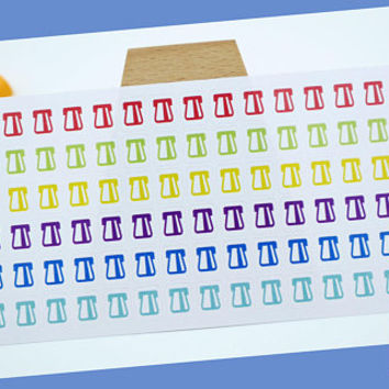 PLANNER STICKER || credit card payment | payment reminder sticker || household || small rainbow colored | for your planner or bullet journal