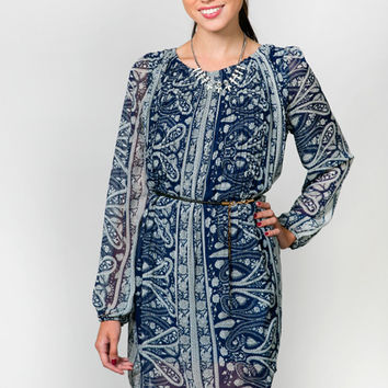 Elaina Belted Tunic Dress