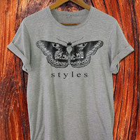 one direction shirt 1D shirt harry styles tatto shirt black white grey t shirt S-XXL size available