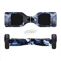 The Blue Vector Camo Full-Body Skin Set for the Smart Drifting SuperCharged iiRov HoverBoard