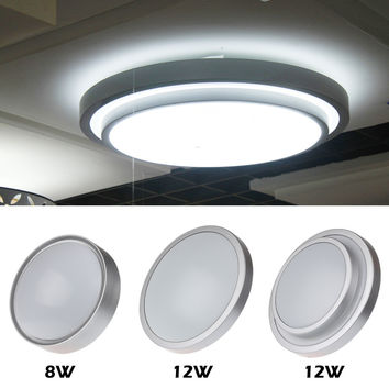 8W 12W Double-Deck Surface Mounted Led Downlight Round Panel Light Ultrathin Circle Ceiling Down Lamp Kitchen Bathroom