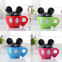 NEW arrival Mic superman cup Cartoon animals mugs cups with lid water cups for birthday gift
